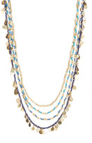 Natasha Accessories Multi-Strand Beaded Disc Necklace