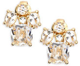 Kate Spade Make Me Blush Crystal Cluster Clip-On Earrings