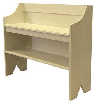 Winston Porter Caslin Wood Storage Bench Finish: Cream