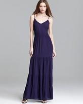 Aqua Maxi Dress - Tiered Gauze