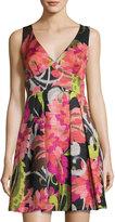 Trina Turk Sleeveless Floral-Print Fit-and-Flare Dress, Multi