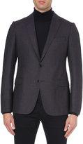 Armani Collezioni Modern-fit Hopsack Wool Jacket