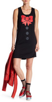 Love Moschino Bow Graphic Print Sleeveless Dress