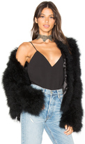 Adrienne Landau Marabou Feather Jacket