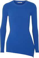 Autumn Cashmere Asymmetric ribbed-jersey top