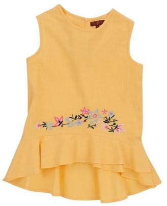 7 For All Mankind Kids Girls 4-6X Ruffle Tank In Buff Yellow