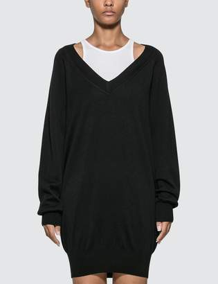 Alexander Wang Alexander Wang.T Bi-layer Sweater Dress