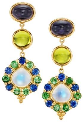 Temple St. Clair Dreamcatcher 18K Yellow Gold & Multi-Stone Drop Earrings