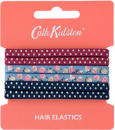 Cath Kidston Cotton Ditsy Pack of 6 Hair Elastics