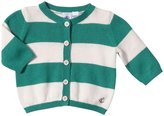 Petit Bateau Striped Cardigan (Baby) - Green/Light Pink-18 Months
