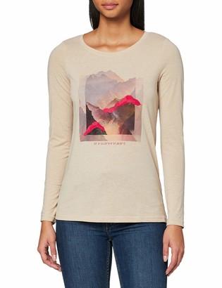 Tom Tailor Women's Print Langarm T-Shirt Longsleeve
