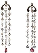 H.Stern 18K Labradorite & Tourmaline Chandelier Earrings