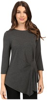 Vince Camuto 3/4 Sleeve Side Ruched Top
