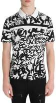 Versace Graffiti Cotton Polo