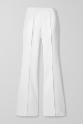 Michael Kors Stretch-crepe Flared Pants - White