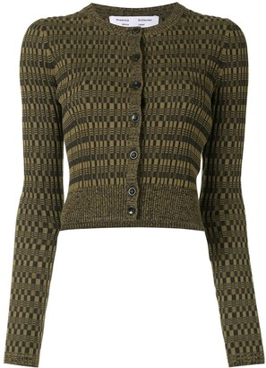 Proenza Schouler White Label Patterned Intarsia-Knit Cardigan