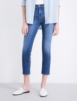 J Brand Ruby straight cropped high-rise jeans