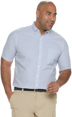 Croft & Barrow Big & Tall Classic-Fit Seersucker Button-Down Shirt