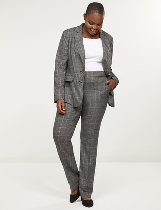 Lane Bryant Allie Tailored Stretch Straight Pant - Shimmer Plaid