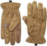 Isotoner Men's Men's Brushed Microfiber Gathered Wrist Gloves