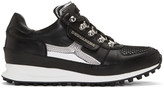 DSQUARED2 Black and Silver dean Goes Hiking Sneakers