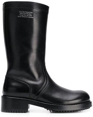 Raf Simons Mid-Calf Chunky Heel Boots