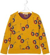 Bobo Choses glasses print jumper