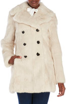 Adrienne Landau Real Rabbit Fur Peacoat