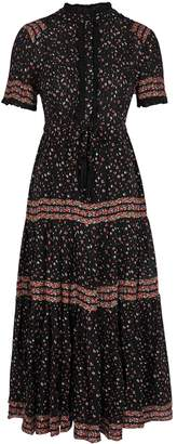 Free People Rare Feeling Floral-print Gauze Maxi Dress