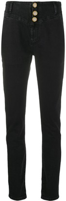 Alessandra Rich High-Waisted Tapered Jeans