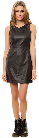 BB Dakota Jack The Chantell Vegan Leather Mini Dress