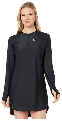Nike Long Sleeve Swim Tunic Cover-Up (Black) Women's Swimwear