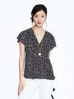 Banana Republic Pleated Wrap-Front Top