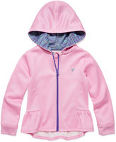 Champion Fleece High-Low Zip Hoodie - Preschool Girls 4-6x