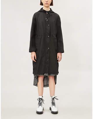 Kenzo Logo-print hooded woven rain coat