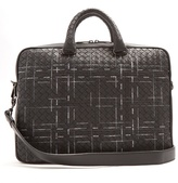 Bottega Veneta Intrecciato Stitch-detail Leather Briefcase