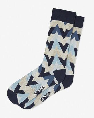 Express Geometric Print Dress Socks