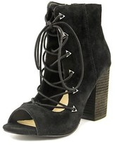 Fergie Riviera Open-toe Suede Ankle Boot.