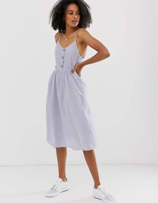 Only cami midi dress-Blue