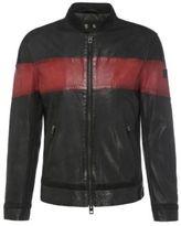 Hugo Boss Jondro Sheepskin Paneled Biker Jacket 38R Red