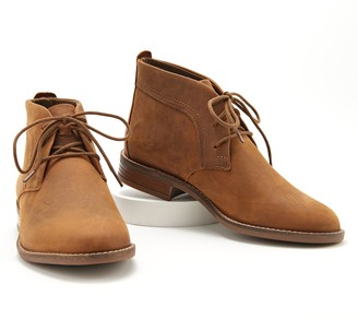 Clarks Collection Leather Lace-Up Boots - Camzin Grace
