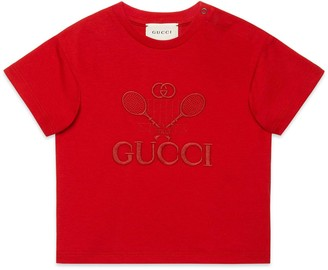Gucci Baby 'Guccheese' animal print T-shirt