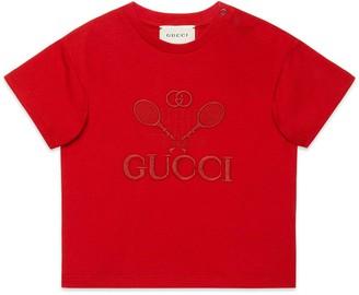 Gucci Baby INDI print cotton T-shirt