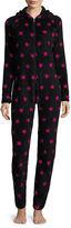 Flirtitude Hooded Union Suit Pajamas