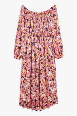 Monki Elastic-waist long dress