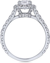 Macy's Certified Diamond Halo Engagement Ring (2-1/3 ct. t.w.) in 18k White Gold