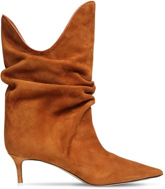 ATTICO 50mm Suede Ankle Boots