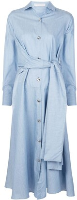 Palmer Harding Julia tied-sleeves shirt dress