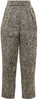 IRO Pride Printed Linen-blend Tapered Pants
