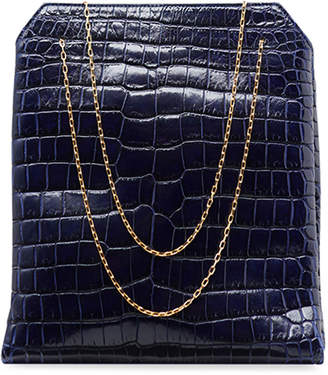 The Row Small Lunch Bag in Alligator